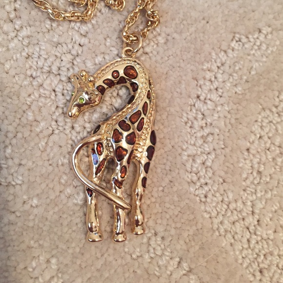 sterling necklace hugging giraffes silver giraffe