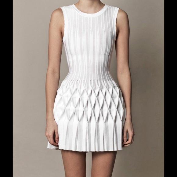 Alala Dresses Soldazzedine Alaia Origami Pleated Dress Sz 38