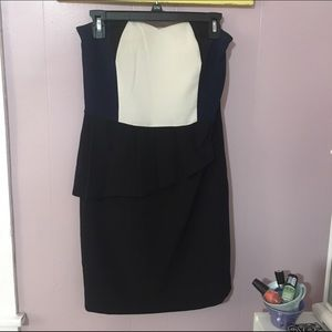 Professional Pencil Dress. Navy, White, and Black