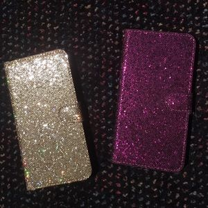 Set of 2 iPhone 6/6s Glitter Cases w/Card Holders