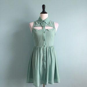 L'atiste Dresses & Skirts - Cutout Button-Down Dress
