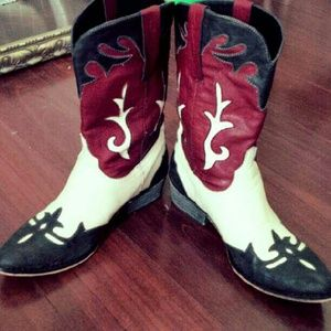 Shoes - Rodeo Leather Cowgirl Boots