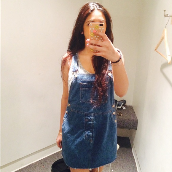 0a333f7228 PACSUN RETRO GALA denim overall dress  bib dress