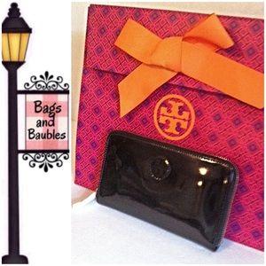 Tory Burch Handbags - TORY BURCH Patent Continental Wallet NWT