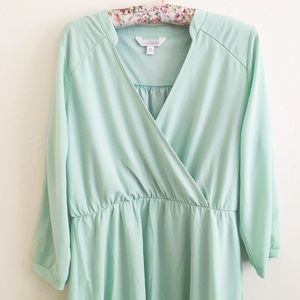 Charming Charlie Dresses & Skirts - Mint Green Wrap Dress
