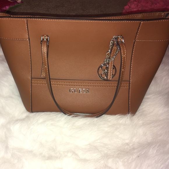 e618ba81db1 GUESS Bags   Cognac Handbag   Poshmark