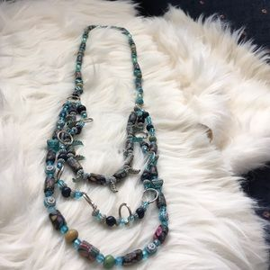 Arawak Jewelry Jewelry - 🆑earance 🆕 3 layers assorted blue beads necklace