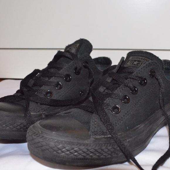 edb8e9d04b2023 Converse Shoes - Black Converse all star low tops.