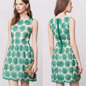 Anthropologie Lacebloom Dress green by Leifsdottir