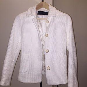 ZARA White Blazer Jacket