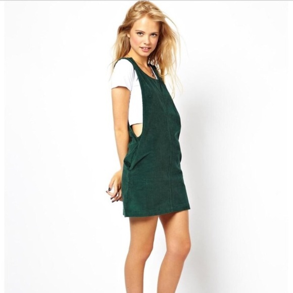 Urban Outfitters Dresses Forest Green Corduroy