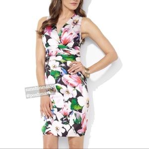 Ralph Lauren Multi color Floral silk like dress