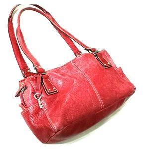 Fossil Handbags - Fossil Castille red leather purse hobo medium