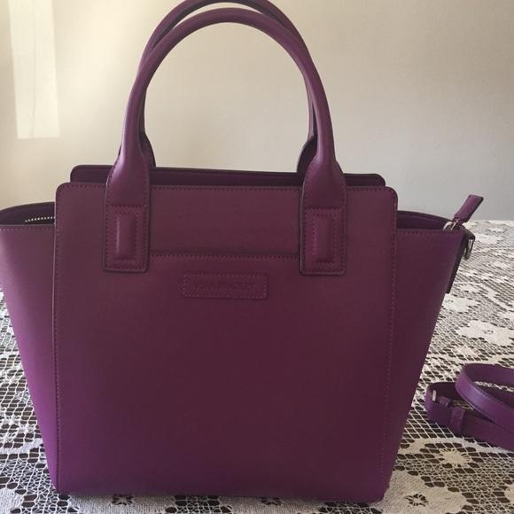 44859a0cb9 Plum Purple Faux Leather Vera Bradley Handbag. M 57ace95878b31c8b0c00d910