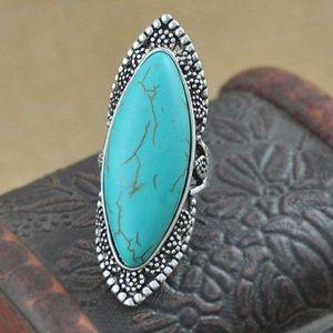 Child of Wild Jewelry - Boho Turquoise Ring Tibetan Silver