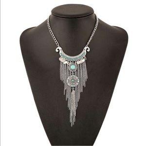 Child of Wild Jewelry - Bohemian Turquoise Tassel Necklace w/ Pendant