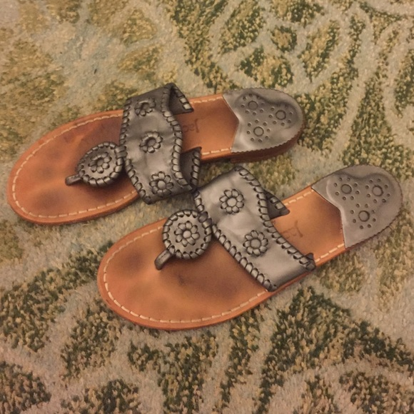 bf094417fcb28 Jack Rogers Shoes - Pewter Jack Rogers Palm Beach Navajo Sandals