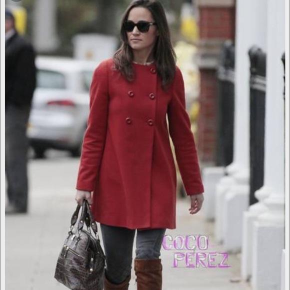 93% off BCBGMaxAzria Jackets & Blazers - Red pea coat, Kate ...