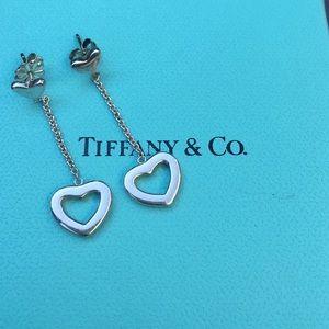 Tiffany & Co. Jewelry - Tiffany Heart Lariat Dangle Earrings