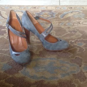 Marc Jacobs Shoes - Blue suede MARC JACOBS heel