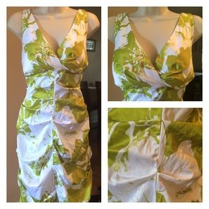 Gorgeous green and white floral sundress size 10