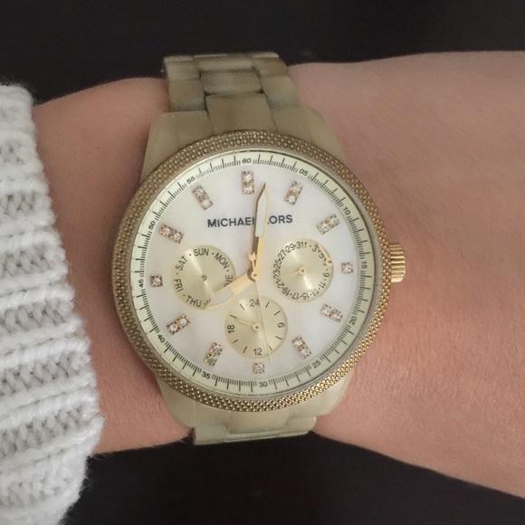 7c39c77ea6d1 Michael kors women s chronograph ritz horn watch. M 5790eb699c6fcfeb7a003b27