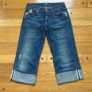 7/23 HP 7FAM Crop Boy Cut Jeans