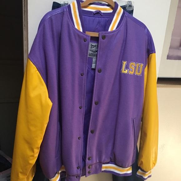 Jackets & Coats | Lsu Letter Jacket Geaux Tigers | Poshmark