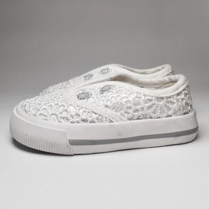 Osh Kosh Other - Genuine Kids White Ivory Lace Sneakers