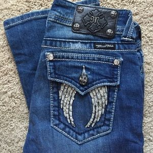 Miss me angel wing boot cut jeans size 26