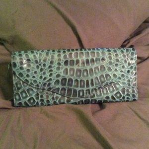 NWOT Turquoise Skin Large Clutch Wallet Organizer