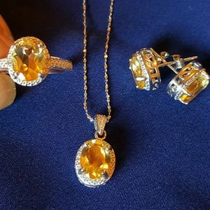 Jewelry - NWOT  -  Citrine set in sterling silver