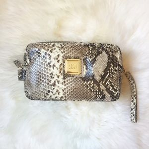 Herve Leger Handbags - Herve Leger Snakeskin Leather Makeup Bag
