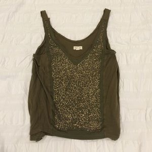 Urban Outfitters Silence & Noise Green Sequin Tank
