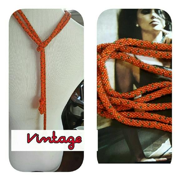 Vintage Accessories - VTG Beaded Rope necklace/belt