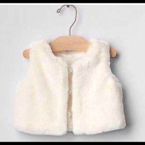 Baby Gap faux fur vest
