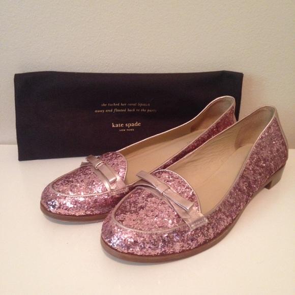 220914c4114e kate spade Shoes - 🎉FINAL SALE🎉 Kate Spade Rose Gold Glitter Flats