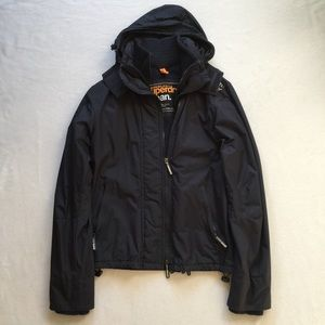 Superdry Other - Men's Navy Blue & White Windcheater Hooded Jacket