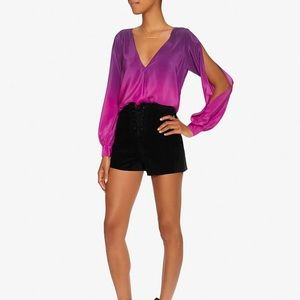 Jay Godfrey Tops - Jay Godfrey Purple Ombré Arm Slit Blouse