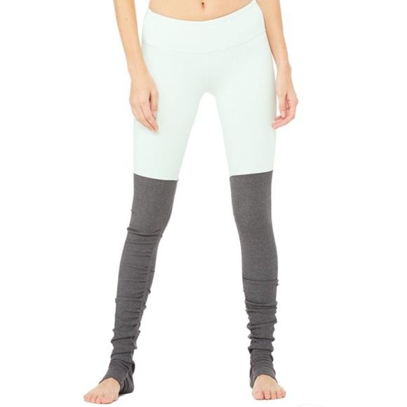 d4ebad3b05dec ALO Yoga Pants | Alo Goddess Leggings Mintstormy Heather | Poshmark