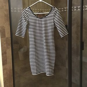 Tobi black and white stripe dress NWOT