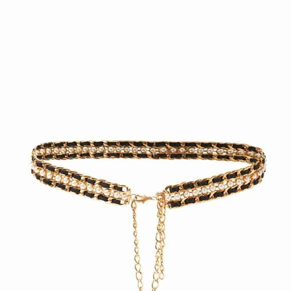 Verwonderend Zara Accessories | Gold Pearl And Leather Belt | Poshmark FF-46