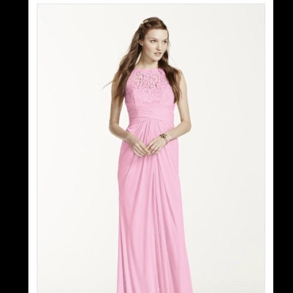 David\'s Bridal Dresses | Tickled Pink Bridesmaid Prom Dress | Poshmark