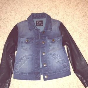 Joe's Jeans Jacket with Faux Leather sleeves