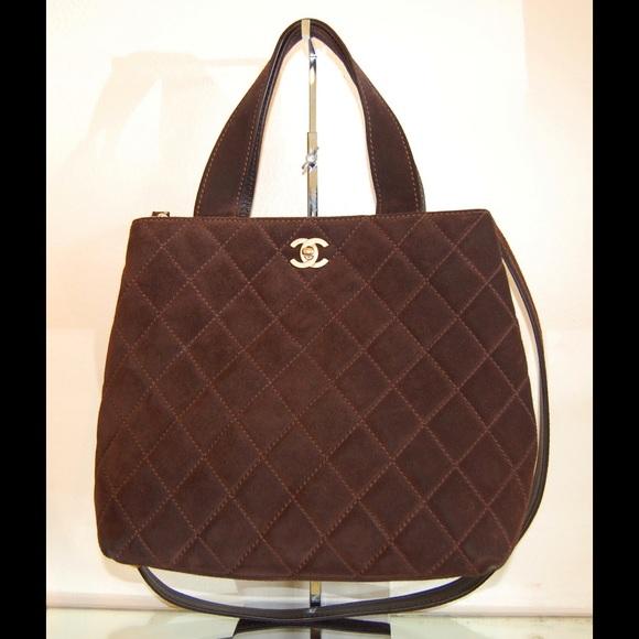 50% off Chanel Handbags - Final Price. Chanel Suede Quilted Tote ... : chanel quilted tote bag price - Adamdwight.com