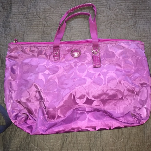 Coach Bags Purple Weekender Bag Poshmark