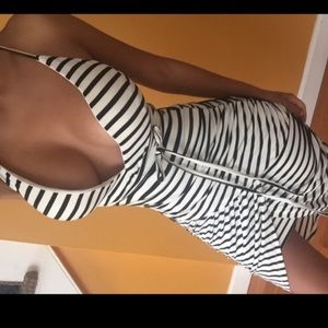 Dresses & Skirts - Stripe Bodycon Ruched Dress