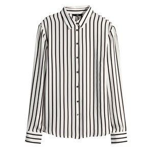 h&m • striped blouse