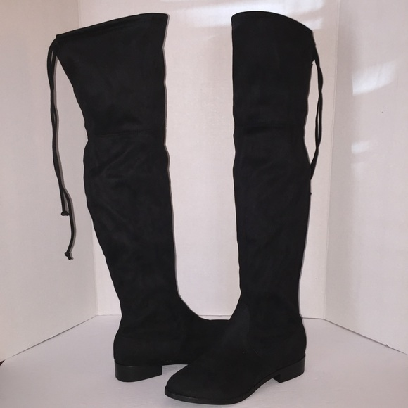d348170eeb5 New Steve Madden Black Orlene Over The Knee Boots
