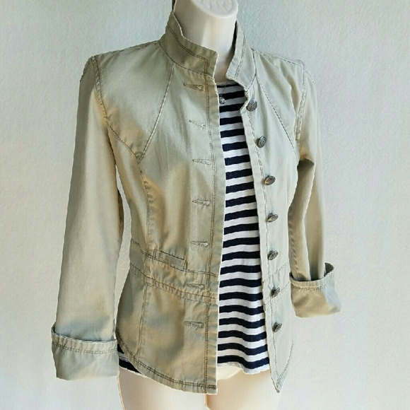 French Cuff desert dunes military jacket